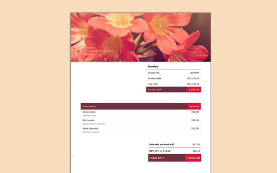 Tips For Designing Your Invoices Debitoor Invoicing Software - Invoice design software