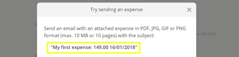 In Debitoor, it's possible to add expenses using an alias