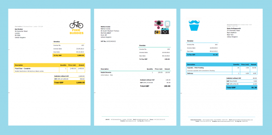 Design Your Invoice Template Debitoor Invoicing And Accounting - Invoice template design