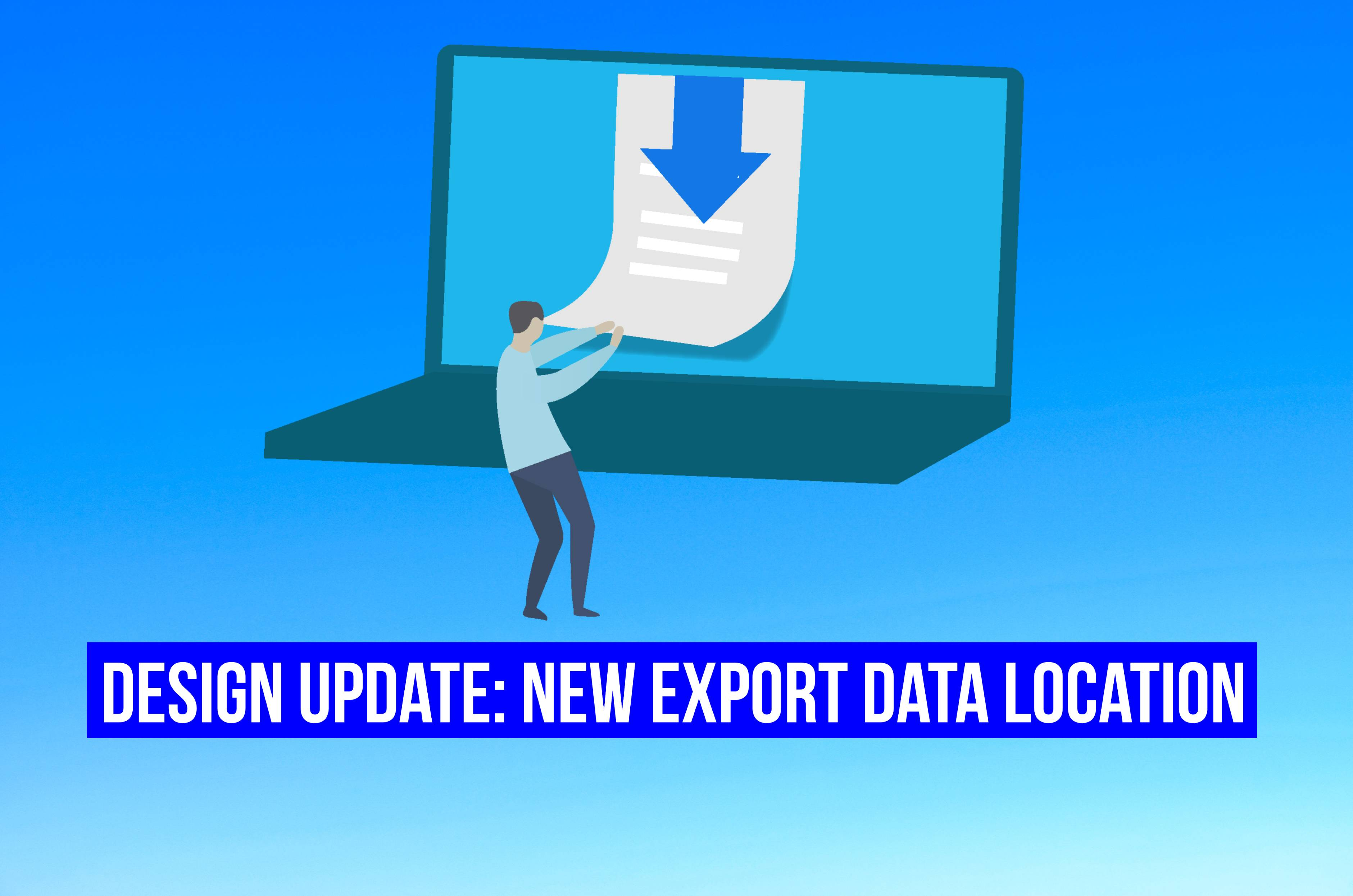 New export data location title image