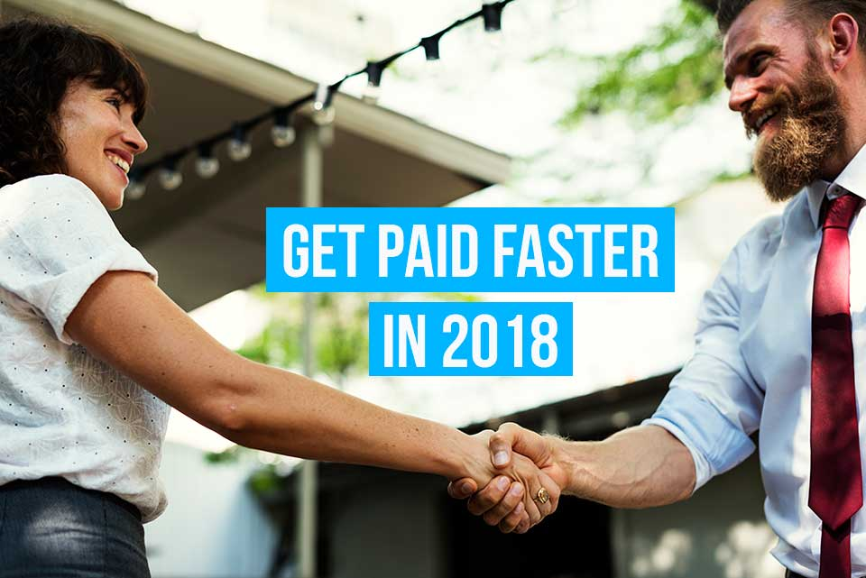 What's your business resolution for 2018? Here's one Debitoor invoicing & accounting software can help with: getting paid