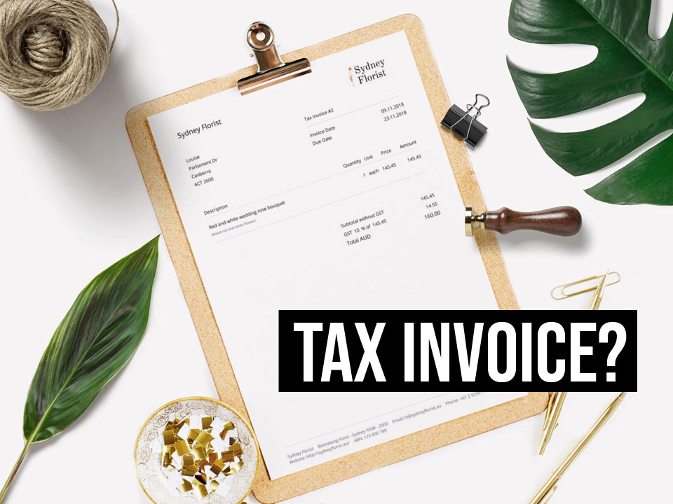Australian tax invoice created with Debitoor invoicing and accounting software