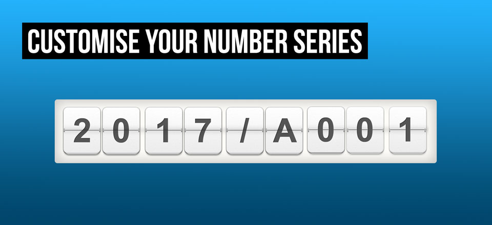 Now available in Debitoor invoicing software: custom number series!