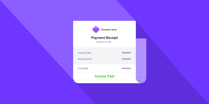 We're thrilled to announce payment receipts - send a receipt for payment to an invoice created in Debitoor