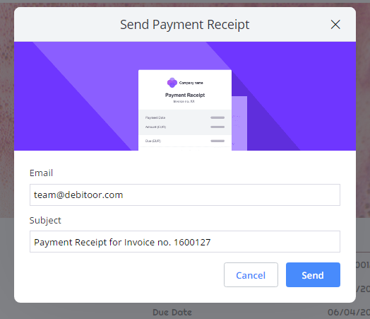 new in debitoor payment receipts debitoor invoice software