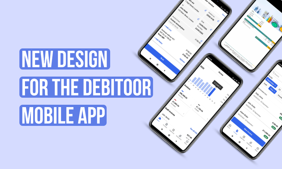 Brand new design for your mobile invoicing app