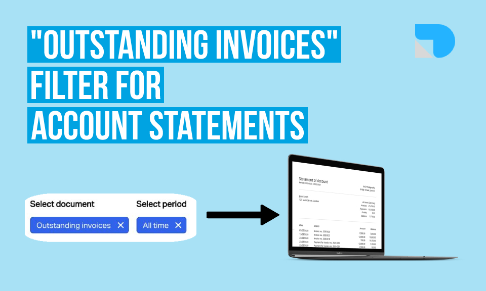 "New ""Outstanding invoices"" filter for account statements"