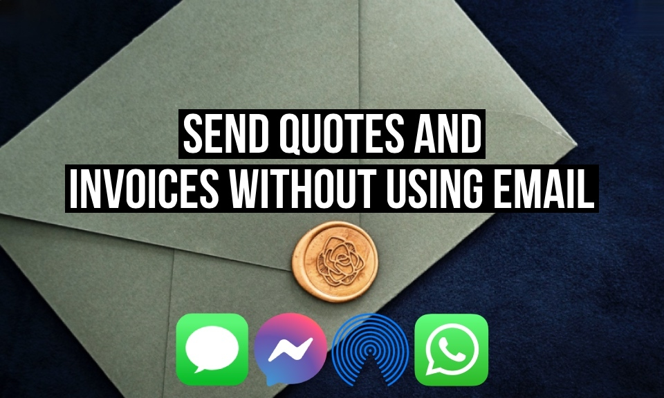 Providing customers with quotes and invoices without using email