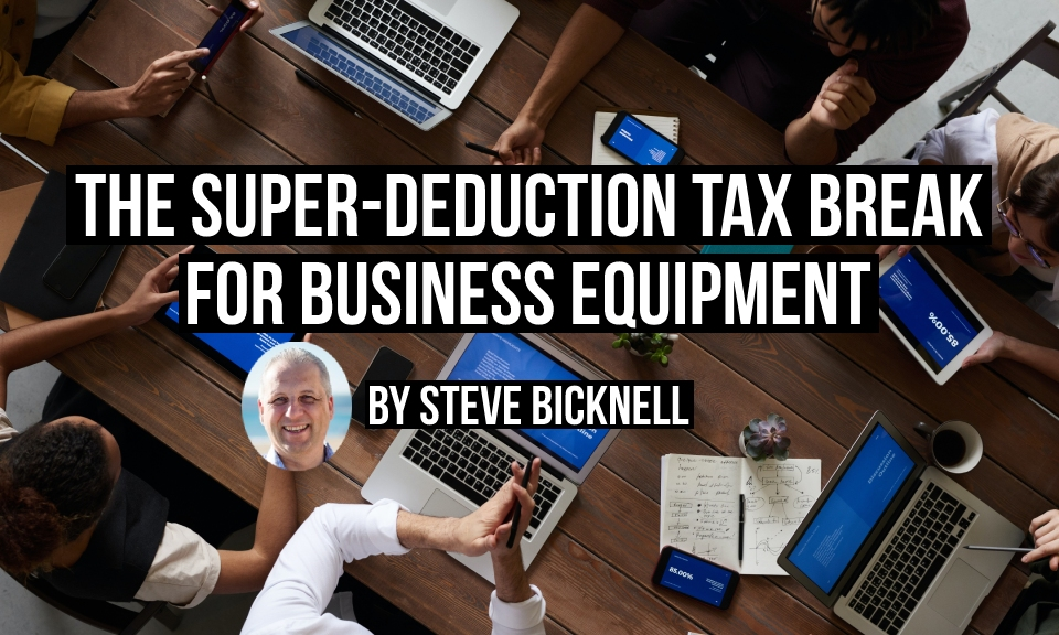 The super-deduction tax break for business equipment