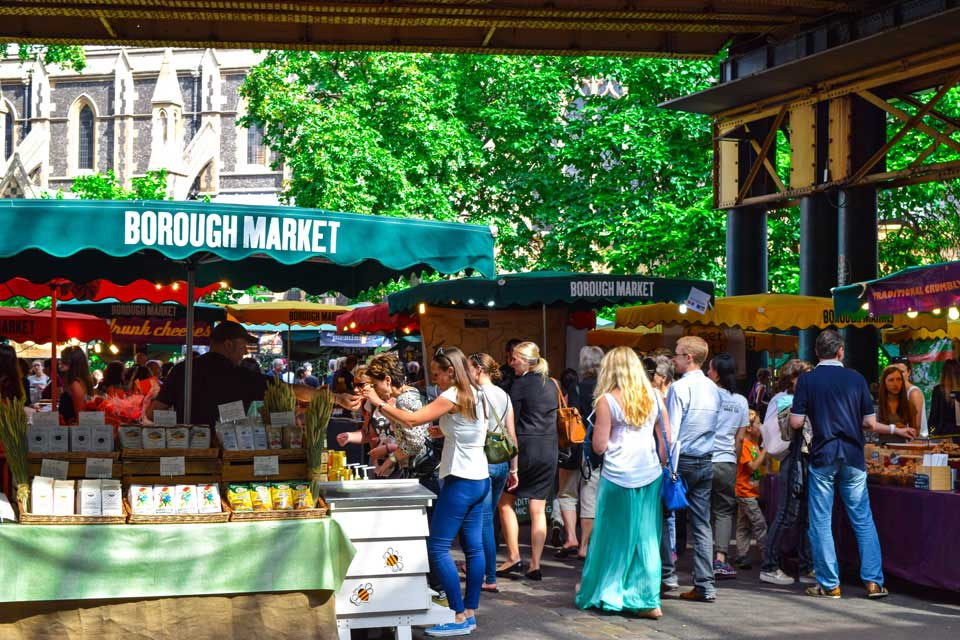 Issue invoices and accept payments at your market stall like these in Borough Market