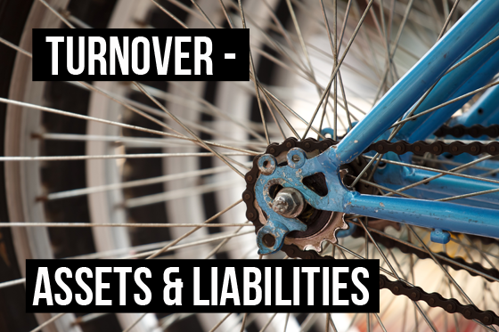 Wheels turning - Turnover is how often a company replaces its assets