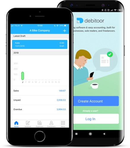 Easy mobile invoicing with the Debitoor iOS app and the Debitoor Android app