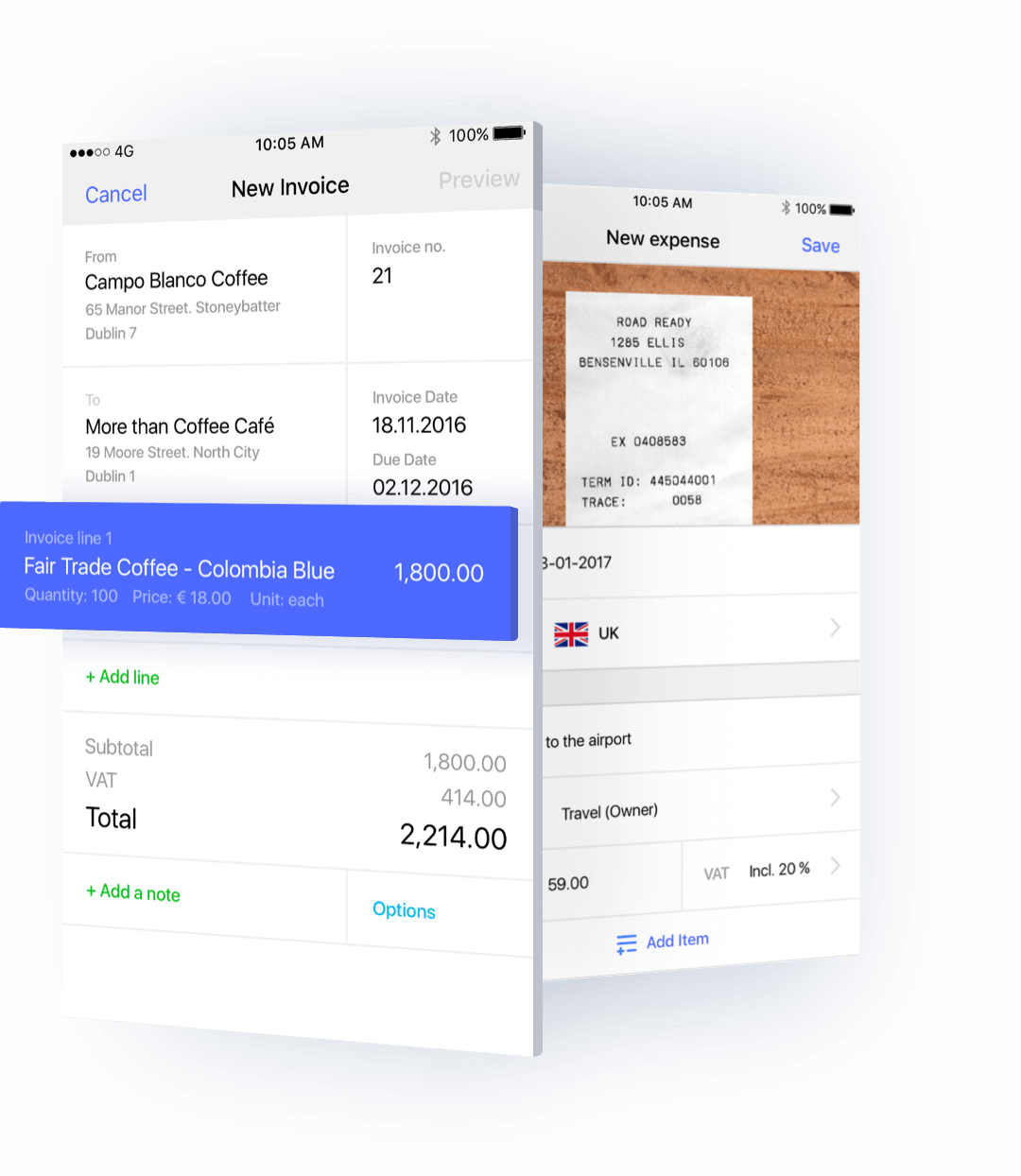 Invoicing from your mobile or tablet is now as simple as creating an invoice from your computer.