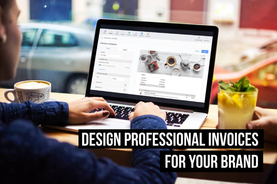 Professional, branded invoices created in Debitoor invoicing software