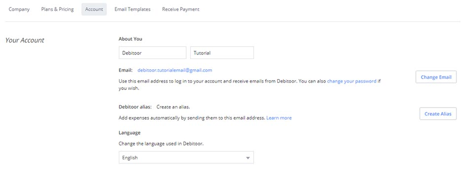 Use an email alias to send and upload your expenses directly to your Debitoor account