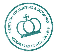 Debitoor is approved by HMRC for Making Tax Digital Software stamp